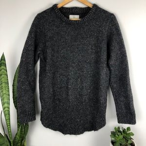 Minimum Speckled Chunky Crew Neck Sweater